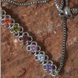 Jewelry - Simulated Multi Color Diamond Bolo Bracelet